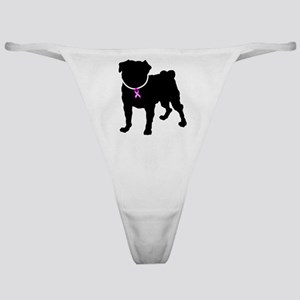 Pug Breast Cancer Support Classic Thong