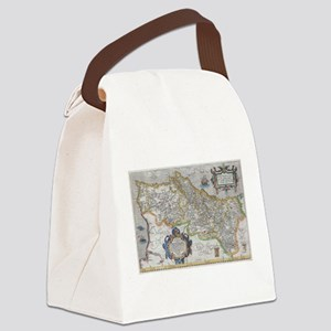 Vintage Map of Portugal (1579) Canvas Lunch Bag