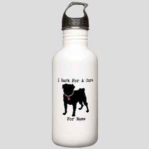 Pug Personalizable Bark For A Stainless Water Bott