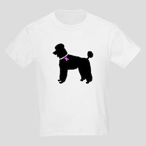 Poodle Breast Cancer Support Kids Light T-Shirt
