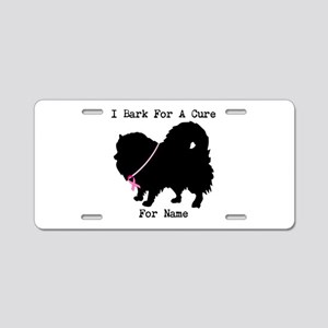 Pomeranian Personalizable I Bark For A Cure Alumin