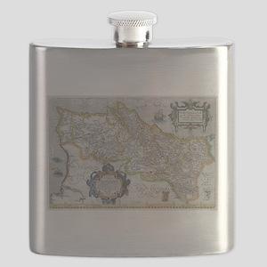 Vintage Map of Portugal (1579) Flask