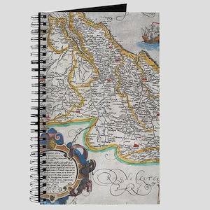Vintage Map of Portugal (1579) Journal