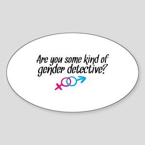 'Gender Detective' Sticker (Oval)