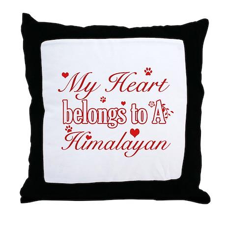 Cool Himalayan Cat Breed designs Throw Pillow