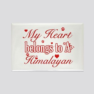 Cool Himalayan Cat Breed designs Rectangle Magnet