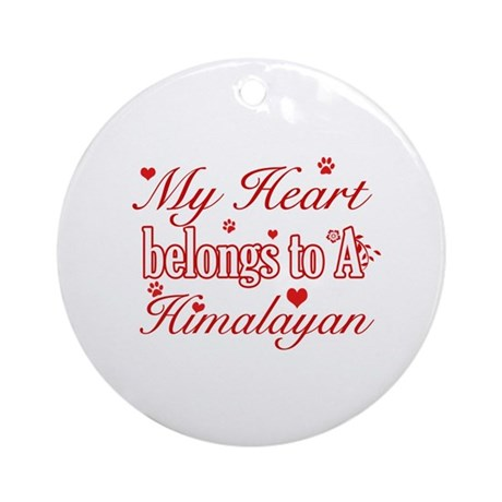 Cool Himalayan Cat Breed designs Ornament (Round)