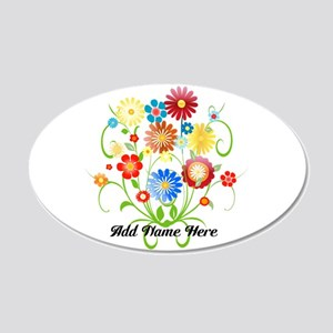 Personalized floral light 22x14 Oval Wall Peel