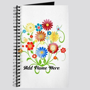 Personalized floral light Journal