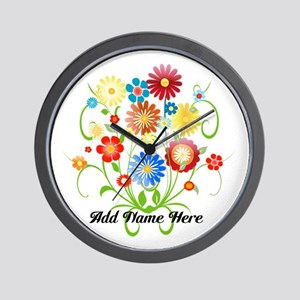 Personalized floral light Wall Clock