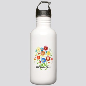 Personalized floral light Stainless Water Bottle 1