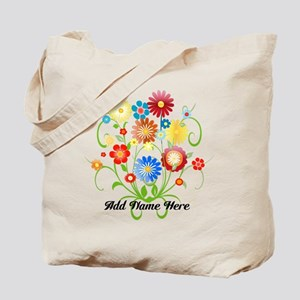 Personalized floral light Tote Bag