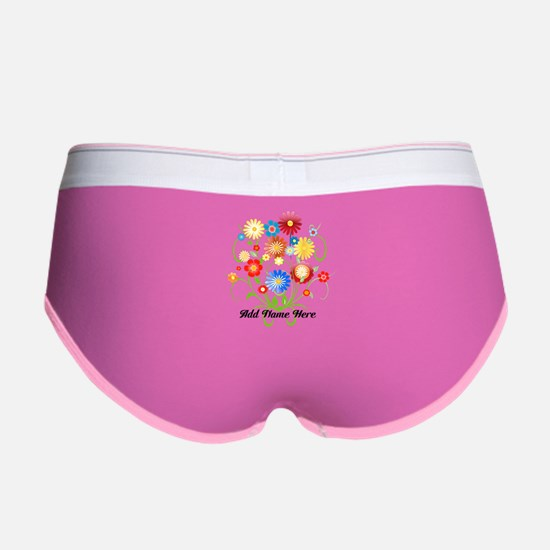 Personalized floral light Women's Boy Brief