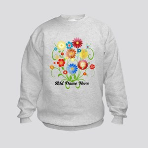 Personalized floral light Kids Sweatshirt
