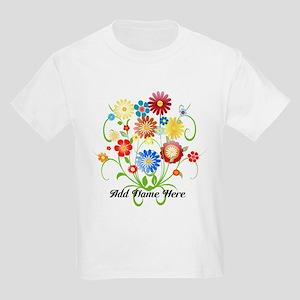 Personalized floral light Kids Light T-Shirt