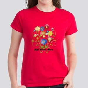 Personalized floral light Women's Dark T-Shirt