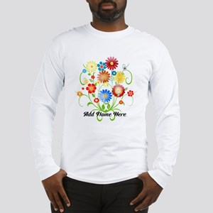 Personalized floral light Long Sleeve T-Shirt