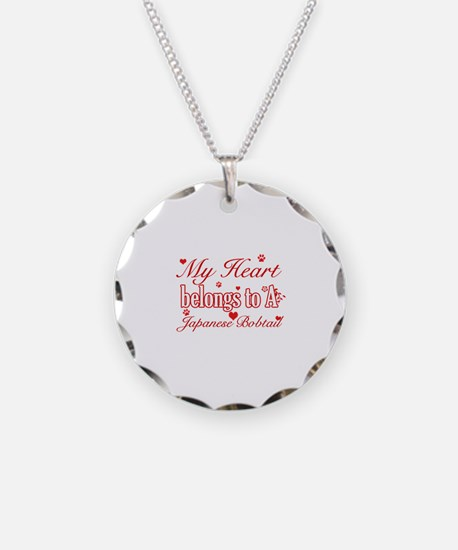 Cool Japanese Bobtail Cat breed designs Necklace