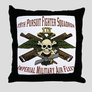 19th Pursuit Squadron Throw Pillow