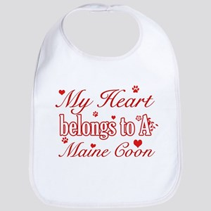 Cool Maine Coon Cat breed designs Bib