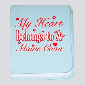 Cool Maine Coon Cat breed designs baby blanket
