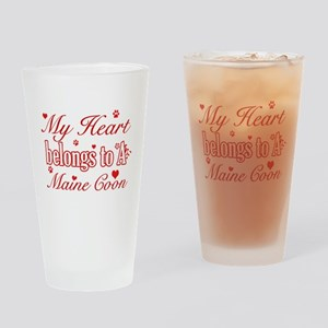 Cool Maine Coon Cat breed designs Drinking Glass