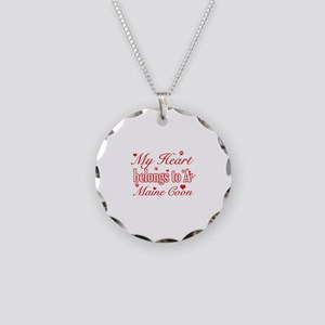 Cool Maine Coon Cat breed designs Necklace Circle