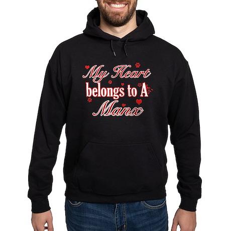 Cool Manx Cat Breed designs Hoodie (dark)