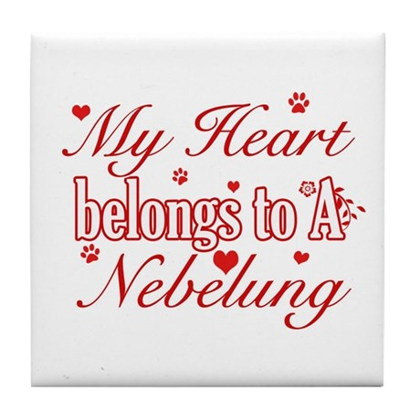 Cool Nebelung Cat Breed designs Tile Coaster