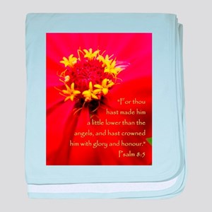 Crowned in Glory Psalm 8:5 baby blanket