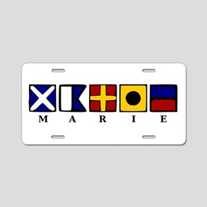 Nautical Marie Aluminum License Plate