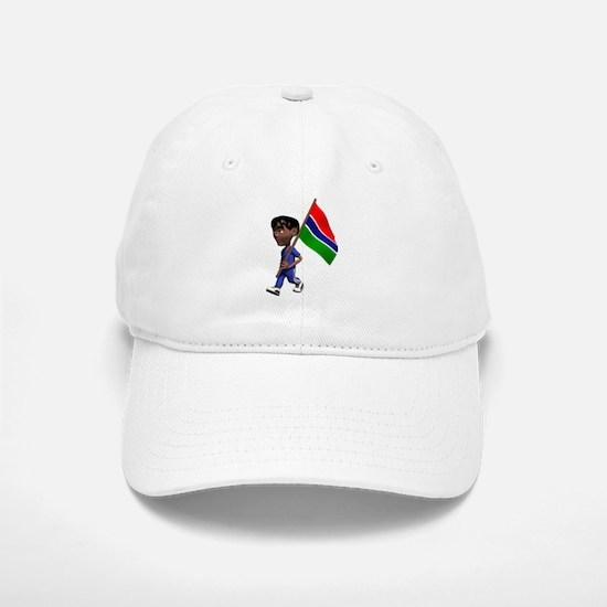 3D Gambia Baseball Baseball Cap