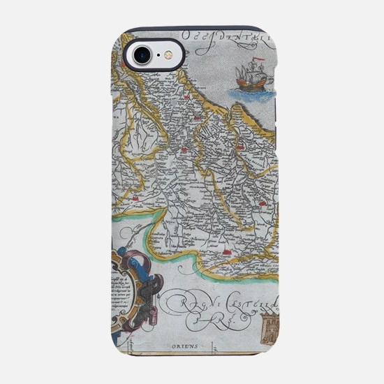 Vintage Map of Portugal (1579) iPhone 7 Tough Case
