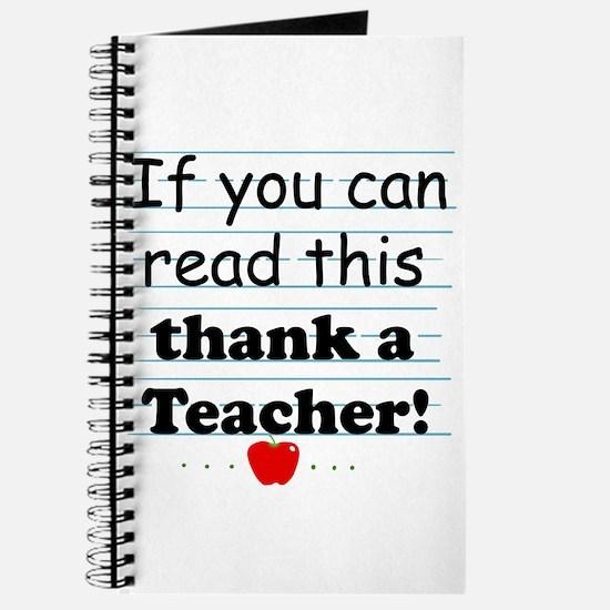 Thank a teacher Journal