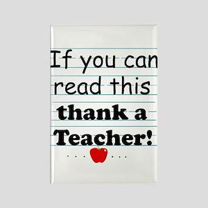 Thank a teacher Rectangle Magnet