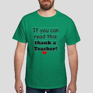 Thank a teacher Dark T-Shirt