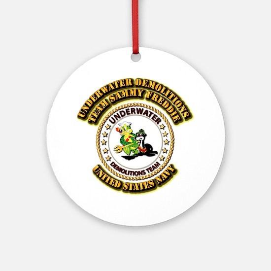 US Navy - Emblem - UDT - Sammy - Freddie Ornament