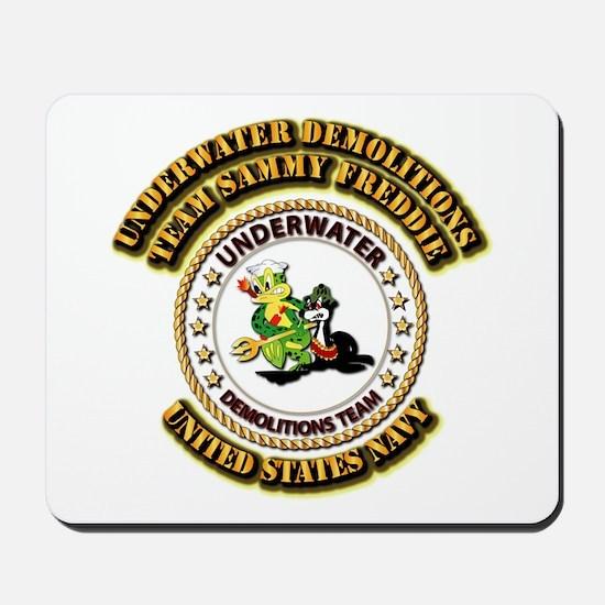 US Navy - Emblem - UDT - Sammy - Freddie Mousepad