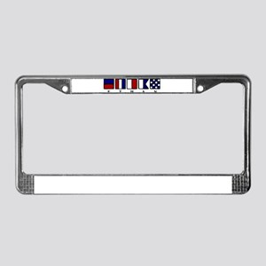 Nautical Ethan License Plate Frame