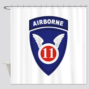 11th Airborne division Shower Curtain