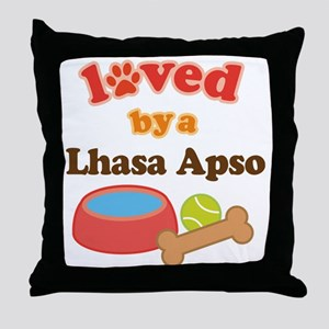 Lhasa Apso Dog Gift Throw Pillow