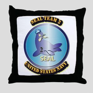 SSI - US Navy - Seal Team 2 Throw Pillow