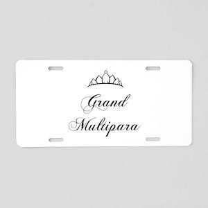 Grand Multipara Aluminum License Plate