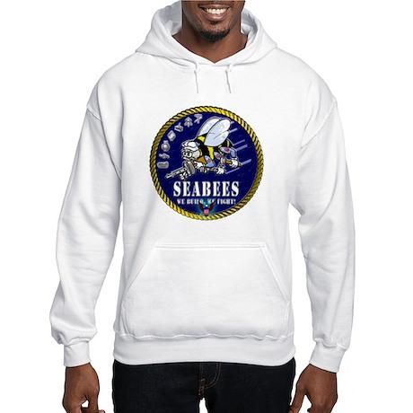US NAVY Seabees Roped Rates Hooded Sweatshirt