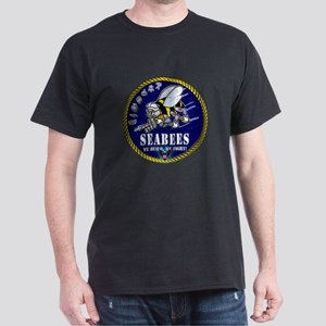 US NAVY Seabees Roped Rates Dark T-Shirt