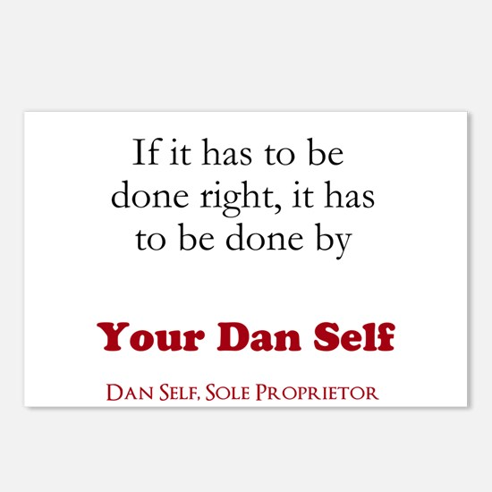 Your Dan Self basic Postcards (Package of 8)