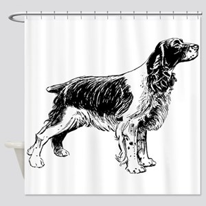Springer Spaniel Shower Curtain