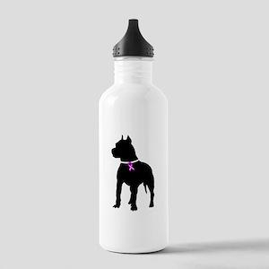 Pitbull Terrier Breast Cancer Stainless Water Bott
