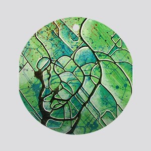 green abstract Ornament (Round)