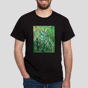 green abstract Dark T-Shirt